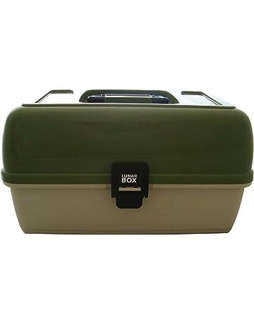 3 bandejas de las artes, artesanías y caja de costura, compartimentos ajustables, caja