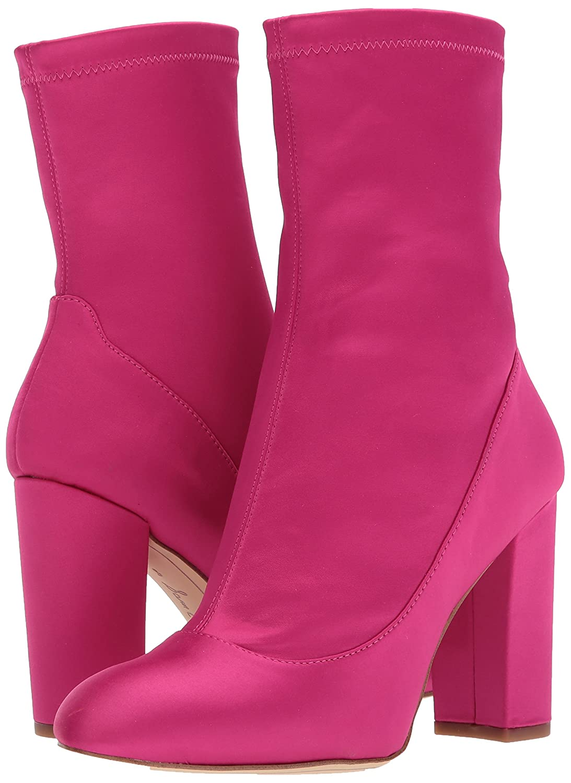 Sam Edelman Women's Calexa Fashion Boot B06ZZCZTSR 7.5 B(M) US|Berry Crush Satin Stretch
