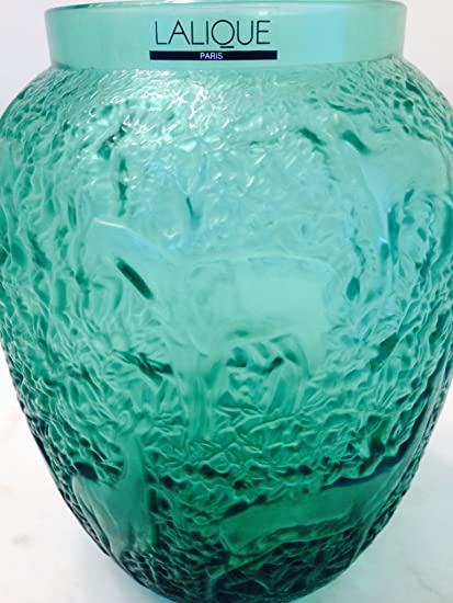 Amazon Lalique Crystal Gorgeous Lalique Green Frosted Clear