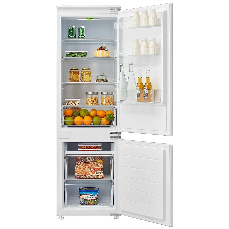 Cookology CBIST70301 70/30 Sliding Hinge Integrated Combi Fridge Freezer Refrigerator | Metal Back