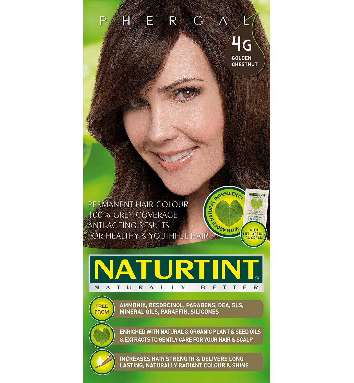 Naturtint Coloration capillaire naturelle permanente - Ingrédients végétaux actifs - 100% couvrant - Couleur 4G Châtain doré Hair Hennas