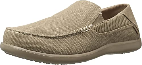 crocs Men's Santa Cruz 2 Luxe M Slip-On Loafer, Khaki/Khaki, 7 M US