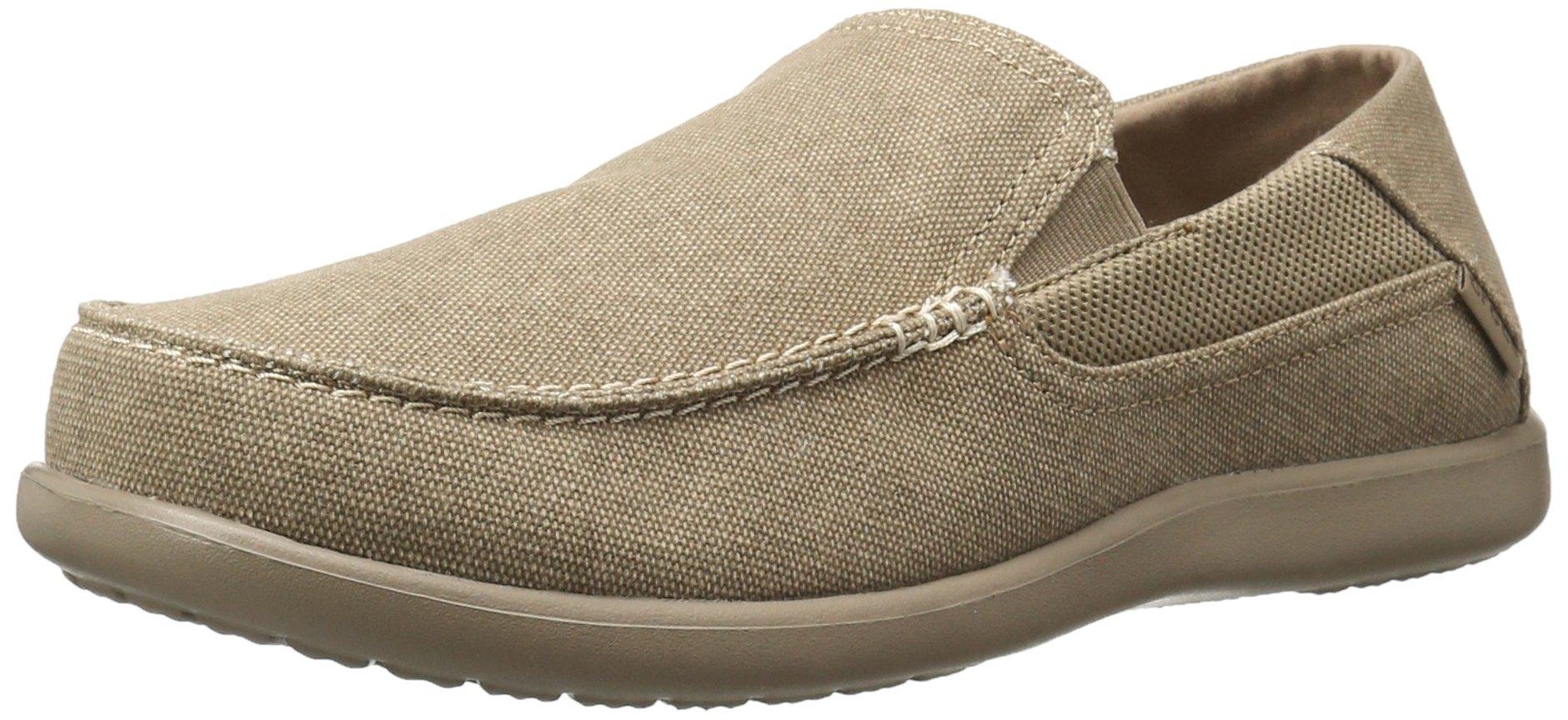 Crocs Men's Santa Cruz 2 Luxe M Slip-On Loafer, Khaki/Khaki, 10 M US