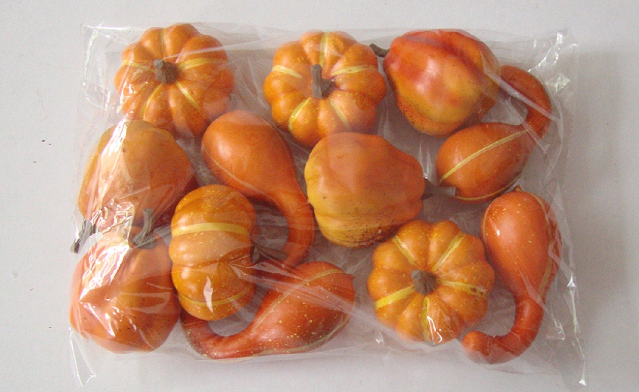 Wreaths For Door 12 Pc Set Faux Fall Gourds Pumpkins Autumn Thanksgiving Home Decor Vase Bowl Filler