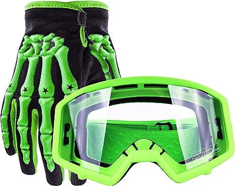 GLX GX08 youth /& kids Motocross//ATV//Dirt Bike//Airsoft Safety Goggles ANSI Z87.1