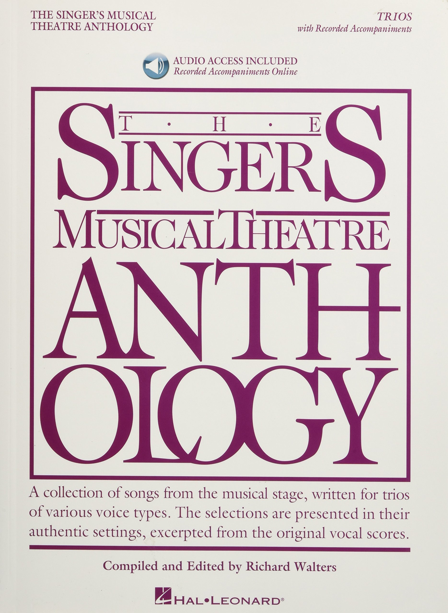 The Singer's Musical Theatre Anthology: Trios - Book/Online Audio: 20 Trios for Various Voice Combinations