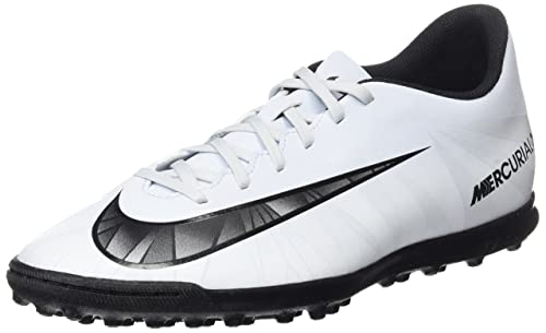 Nike Mercurialx Vortex III Cr7 TF Scarpe da Calcio Uomo Nero/Bianco
