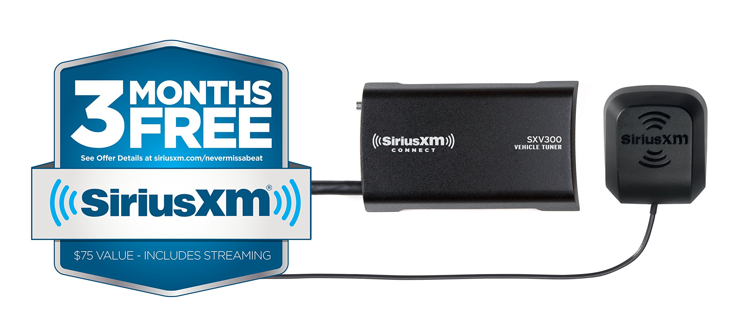 SiriusXM SXV300v1 Connect Vehicle Tuner Kit for Satellite Radio with Free 3 Months Satellite and Streaming Service by SiriusXM