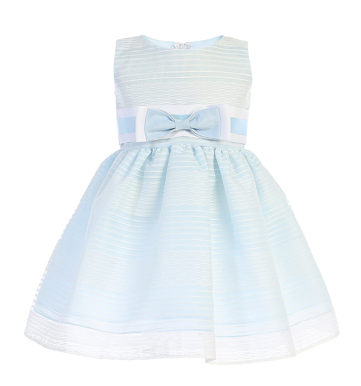 4a50b5494 Amazon.com: Lito Girls Easter Dress - Girls Striped Organza Spring Dress -  Baby Girls Easter Dress - Toddler Easter Dress: Clothing