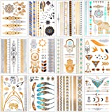 Tatoo Body - Conjunto de 14 tatuajes temporales metálicos ...