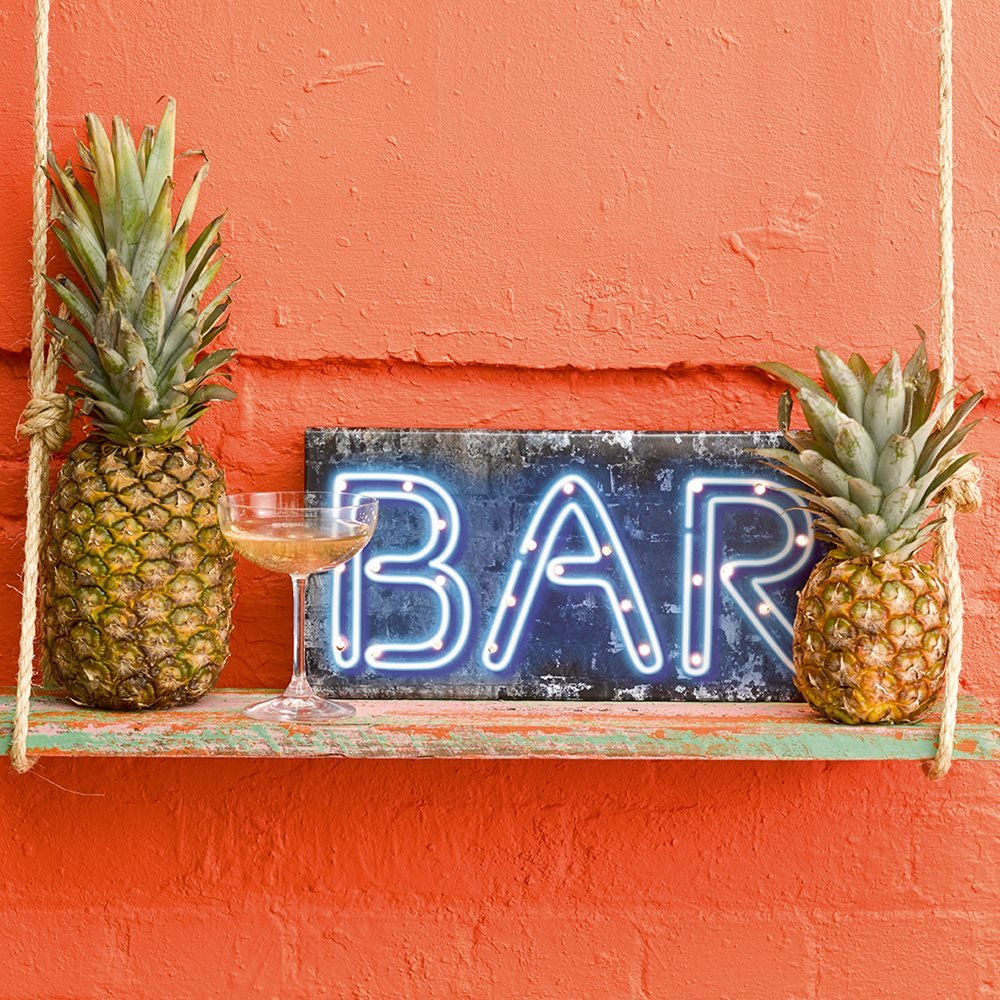 Talking Tables Party Lights Wooden Bar Sign for your Home Décor or Birthday Party