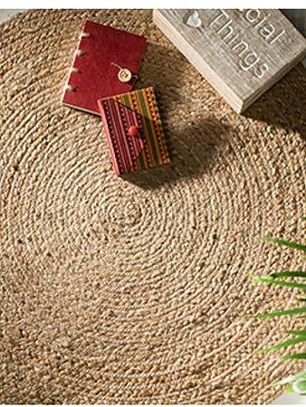 Teppich gross  Fair Trade Natur Teppich, groß, rund, geflochten, 100% jute ...