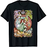 Disney Princess Classic Cartoon Group Collage T-Shirt