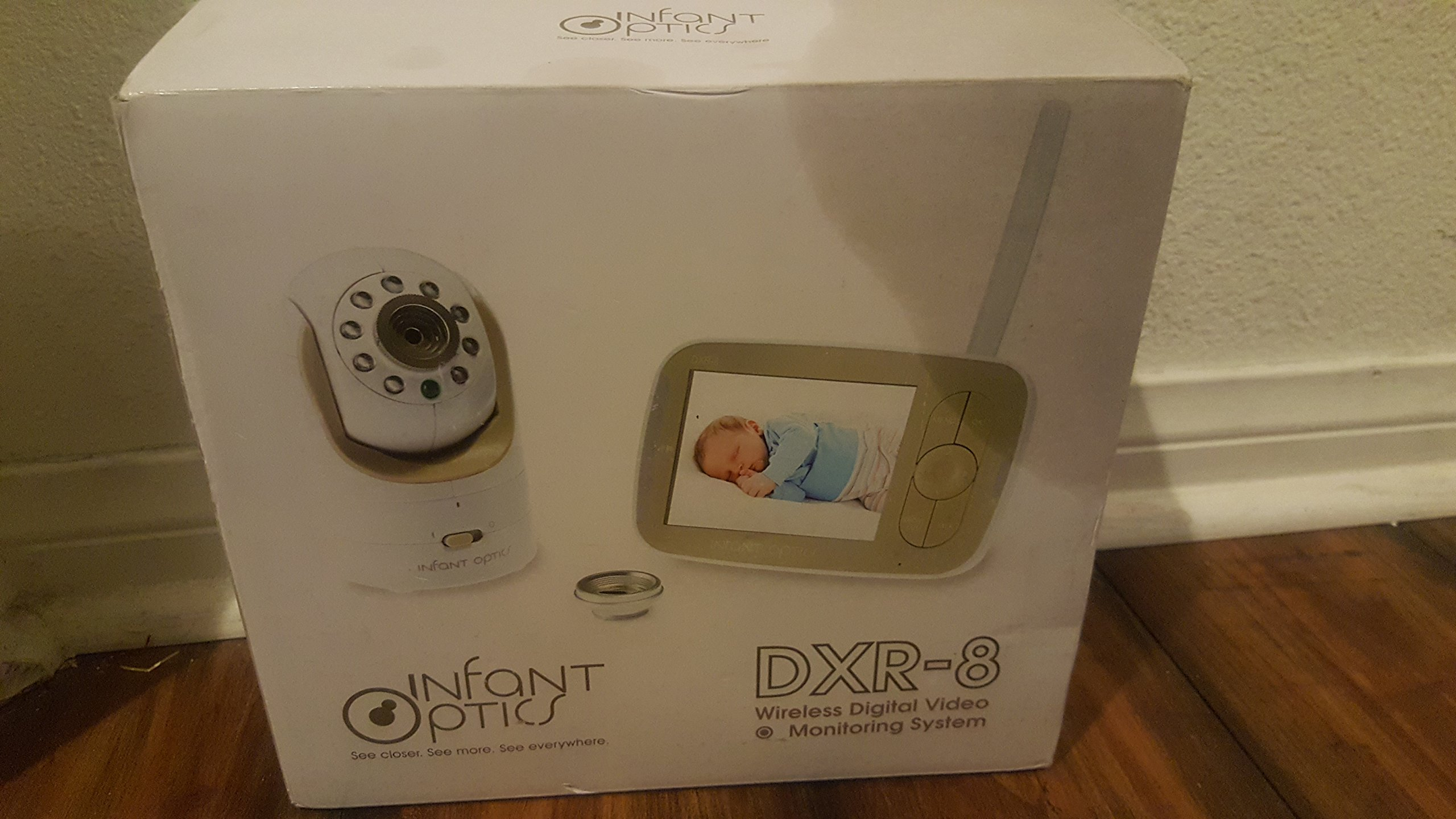 Infant Optics DXR-8 Video Baby Monitor with Interchangeable Optical Lens (White) by Infant Optics (Image #1)