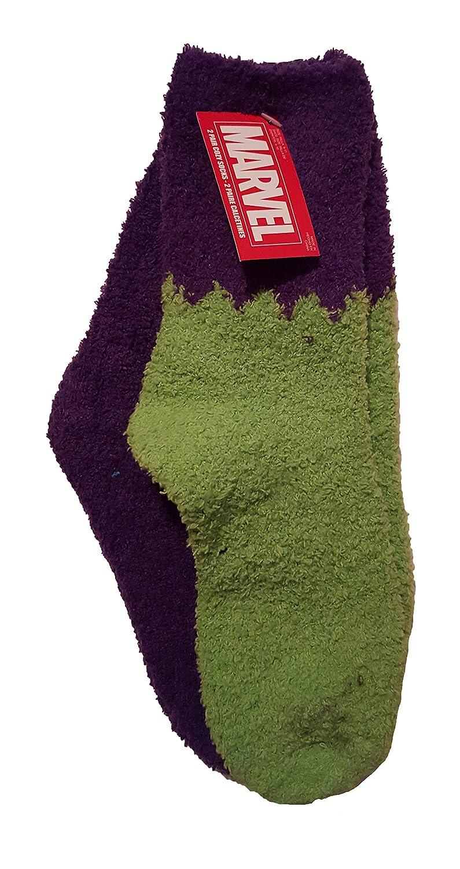Amazon.com: Marvel The Hulk 2 Pair Womens Fuzzy Cozy Socks (Size 9-11): Clothing