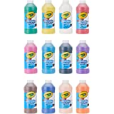 Crayola Washable Paint, Assorted Colors, 16 Ounces, 12 Count