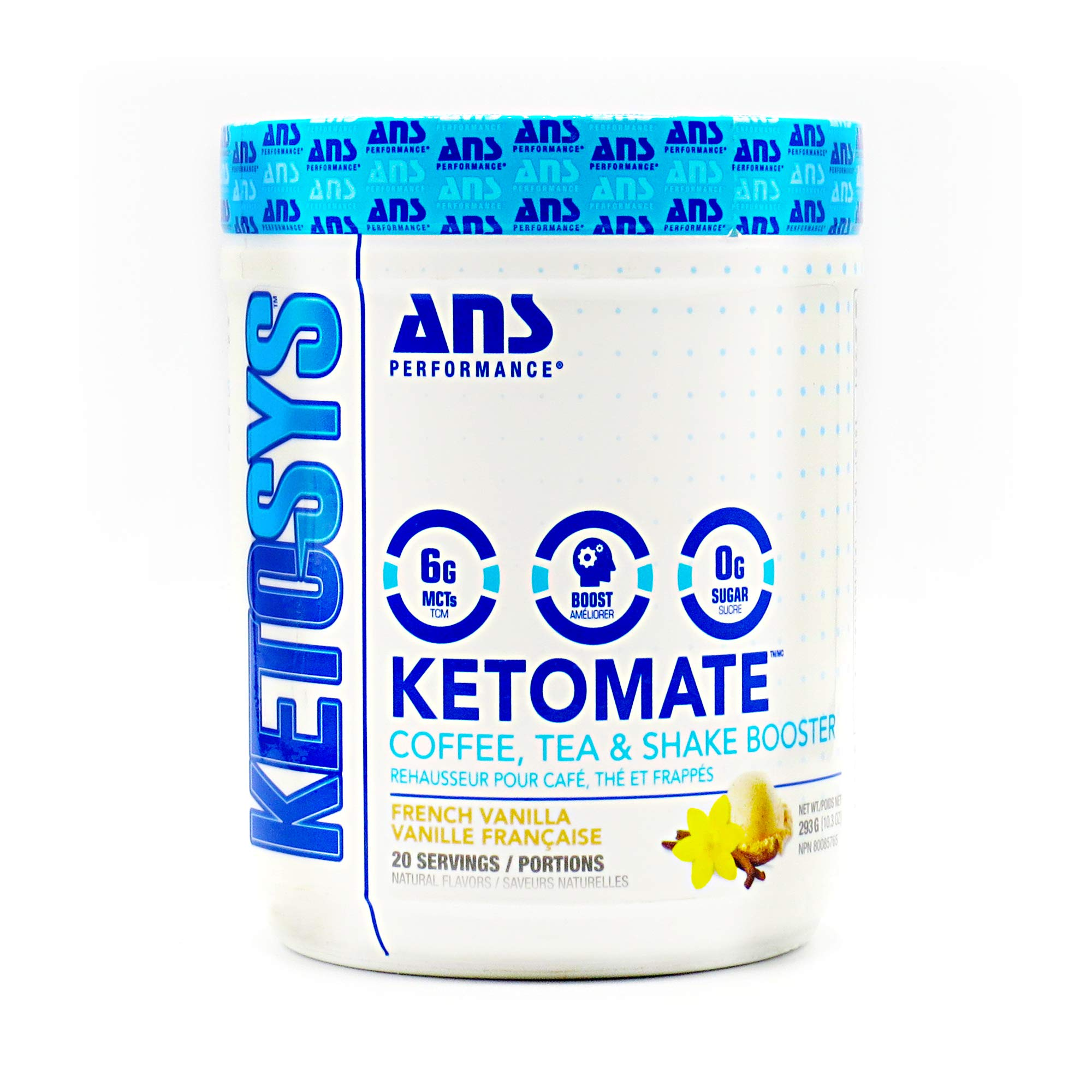 ANS Performance KETOMATE - Keto Coffee Creamer with MCT Oil Powder (20 Servings, 15oz)   Sugar Free, Low Carb, Ketogenic & Paleo Diet Friendly Beverage Enhancer   Mental Focus & Energy Booster by ANS Performance