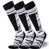 Midweight Camo Snowboard Socks - Merino Wool Winter