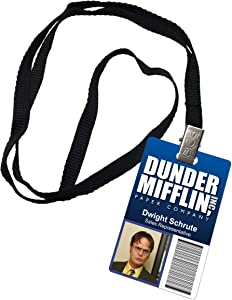 Dwight Schrute Dunder Mifflin Inc. Novelty ID Badge The Office Prop Costume