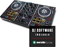 Numark Party Mix   Beginners DJ Controller Set for Serato DJ with 2 Decks, Party Lights, Headphone Output, Performance Pads