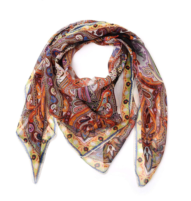 08fb9e98ed240 Etro Women's 1001055881 Multicolor Silk Scarf at Amazon Women's Clothing  store: