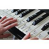 Juego de pegatinas para las teclas del piano o el teclado, hasta 61teclas, en blanco y negro, polipropileno laminado