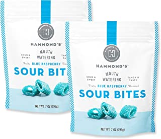 product image for Hammond's Candies - Sour Blue Raspberry Licorice- 2 Bags, Sweet and Sour Chewy Candy, For Movies, Snacks and Candy Trays, Handcrafted in the USA
