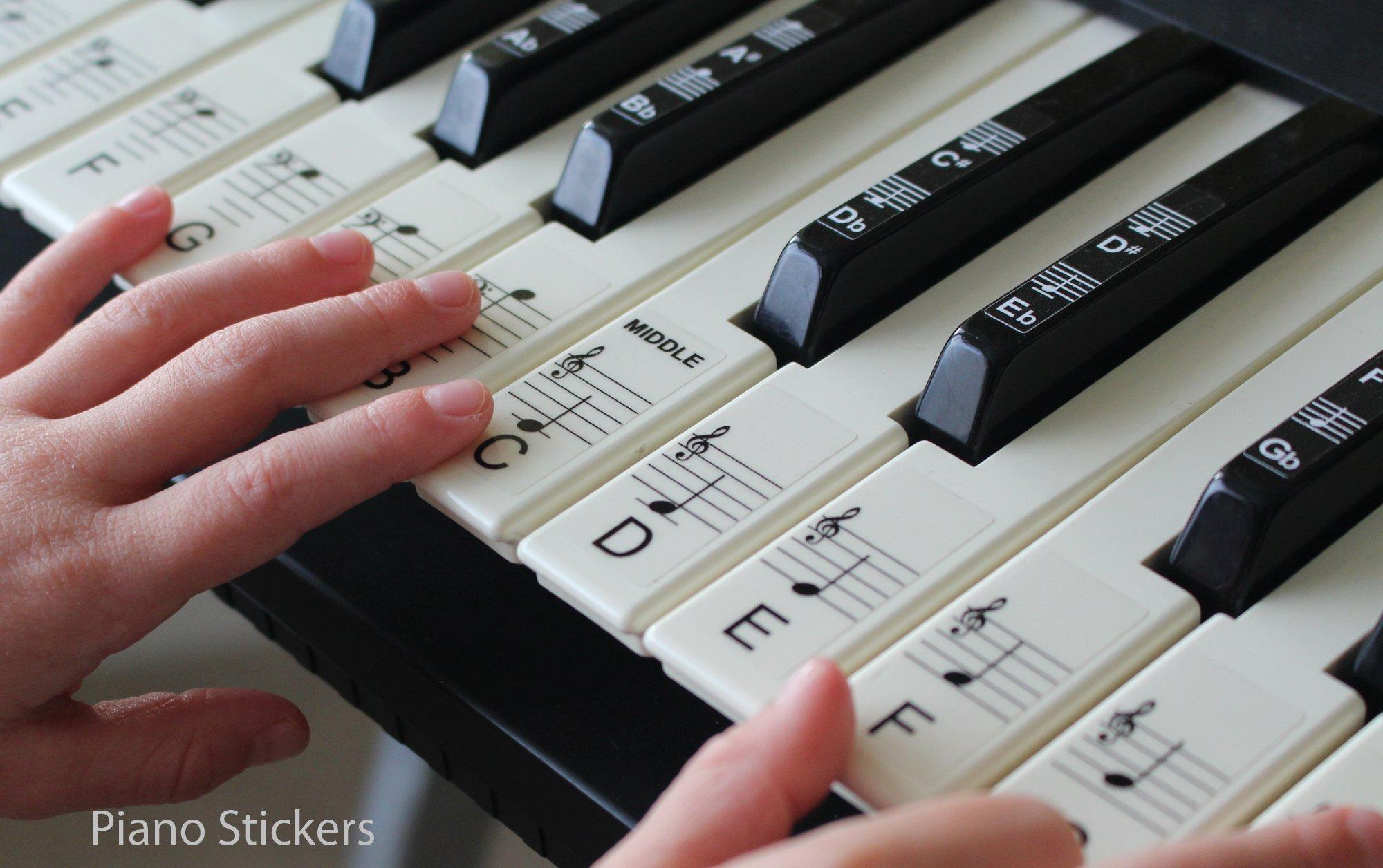 Juego de pegatinas para las teclas del piano o el teclado, hasta 61teclas