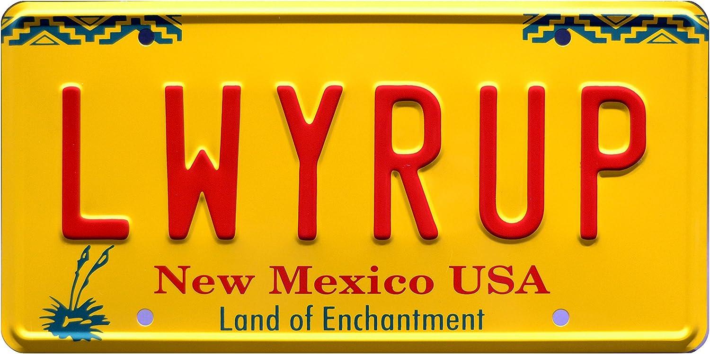 Celebrity Machines Breaking Bad | LWYRUP | Metal Stamped License Plate