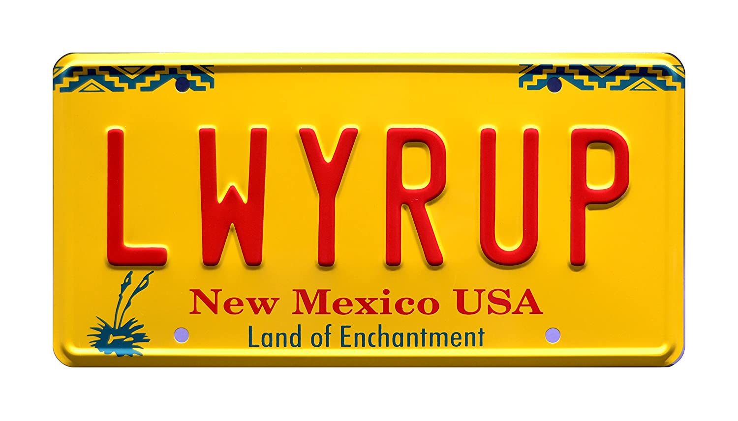 Breaking Bad | Saul Goodman's 1997 Cadillac DeVille | LWYRUP | Metal Stamped Vanity Prop License Plate Celebrity Machines