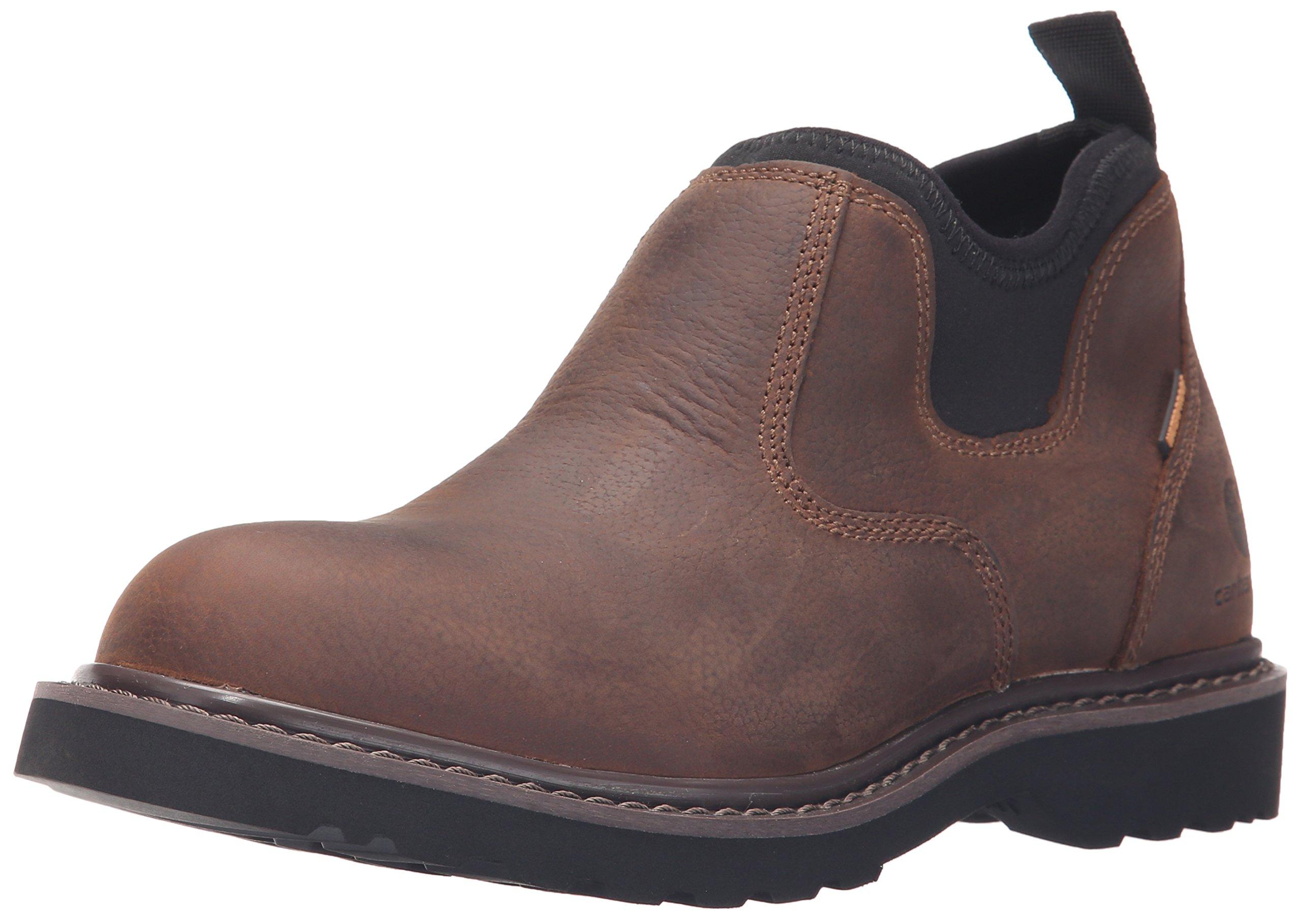 Carhartt Women's 4'' Romeo Waterproof Soft Toe Work Shoe CWS4160, Dark Bison Oil Tanned, 8 M US