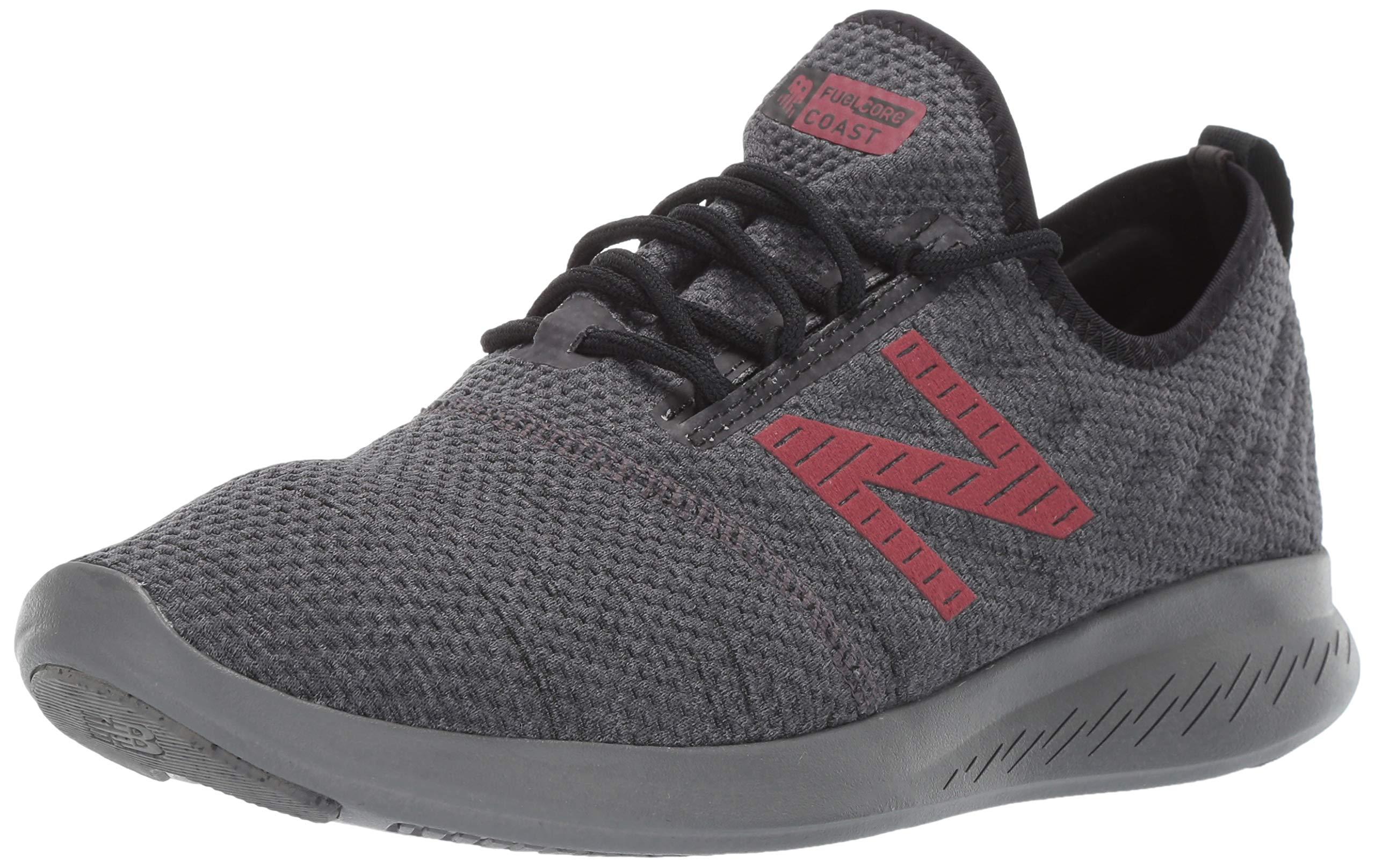 New Balance Men's Coast V4 FuelCore Running Shoe Black/Magnet/Mercury red 7.5 4E US