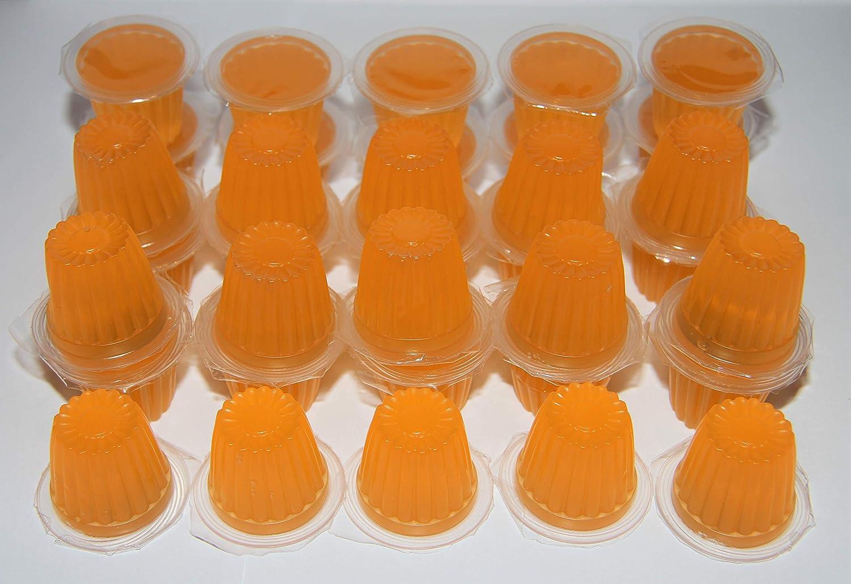 Jelly Fruit Pots Reptile Food – Vasos de frutas de gelatina de proteínas para lagartos, gecko, insectos, pájaros, loros – paquetes a granel (naranja, ...