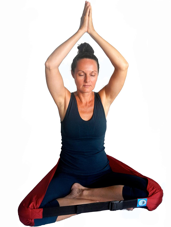 amazon com padma seat best yoga seat strap meditation seat
