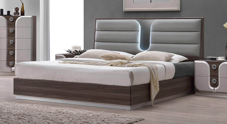 Amazon Com Milan Edinburgh Zebra Wood Grain Size Bed Queen