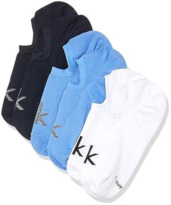 71b502bd06f6 Calvin Klein 3 Pack No Show Herren Socken Mehrfarbig: Amazon.de ...
