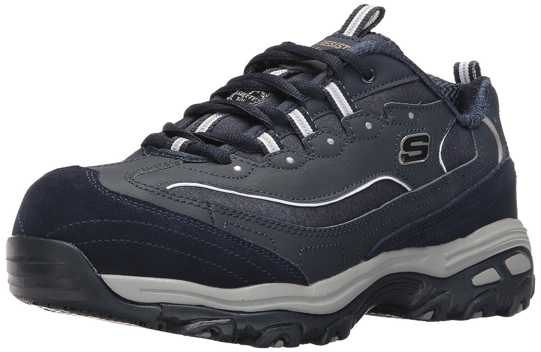Skechers for Work Women's D'Lites Slip-Resistant Pooler Work Shoe B01M1YTUJS 9 C/D US|Navy/Charcoal
