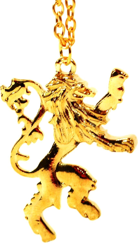/Pendentif/ /Game of Thrones Lannister Lion/ Beaux Bijoux/ /Or Ancien cercei Collier de Lion