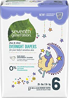 product image for Seventh Generation Overnight Diapers - Size 6-17 ct