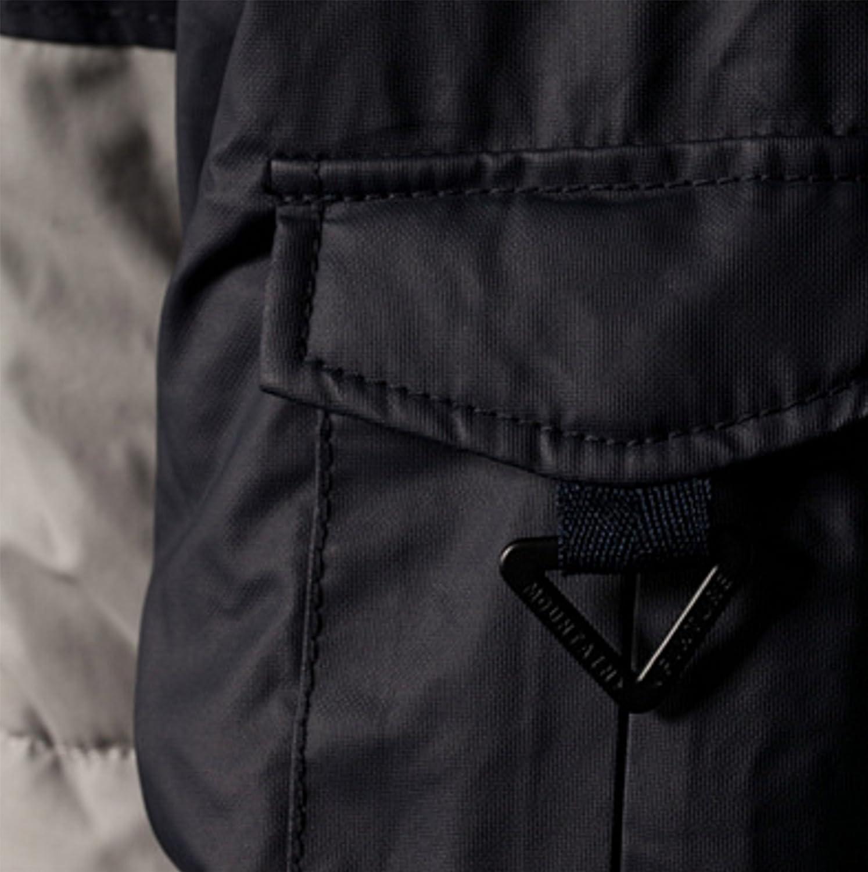 Bershka Mens Puffer Jacket Hoodie Bershka Quilted Jacket Dark Blue and Gray