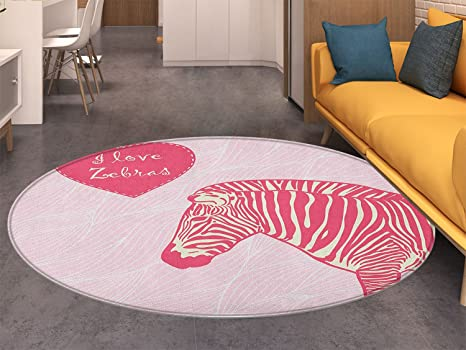 Amazon.com: Pink Zebra Round Rugs for Bedroom I Love Zebras ...