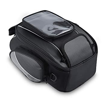 a55063354b Bolsos Magnético Depósito Hombre para Motocicletas Impermeable Alforjas  Asiento de Moto Caja de Deporte al Aire Libre Bolsa Portaequipaje Oxford  Negro para ...