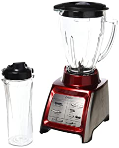 Oster BLSTRM-DZR-BG0 Designed for Life 7-Speed Blender w/Smoothie Cup Red