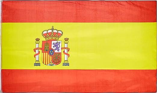 MM 16279 - Bandera de España, Resistente a la Intemperie, 250 x 150 x 1 cm, Multicolor: Amazon.es: Jardín