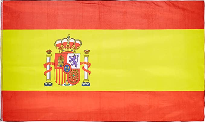 MM 16279 - Bandera de España, Resistente a la Intemperie, 250 x 150 x 1 cm, Multicolor: Amazon.es: Jardín