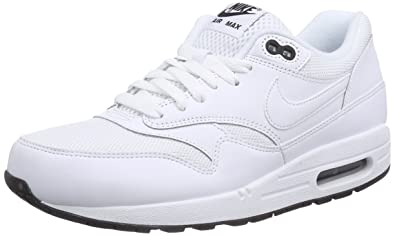 the best attitude e45bd 0cb34 NIKE Air Max 1 Essential Mens Running Shoes 537383-125 White Black-White 13