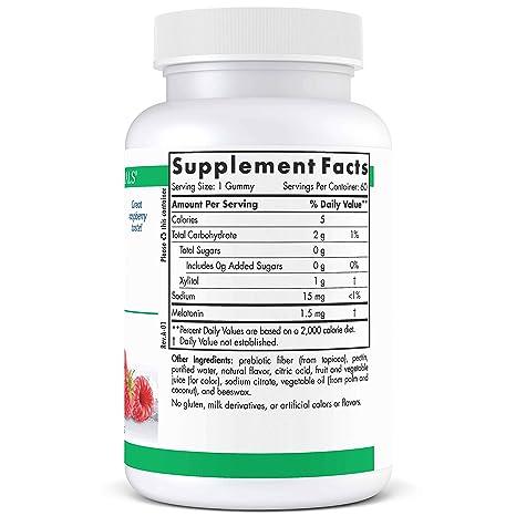 Amazon.com: Nordic Naturals Pro Melatonin Gummies - 1.5 mg Melatonin Per Gummy, Support for Restful, Deep Sleep and Immune Functioning, Raspberry Flavor, ...