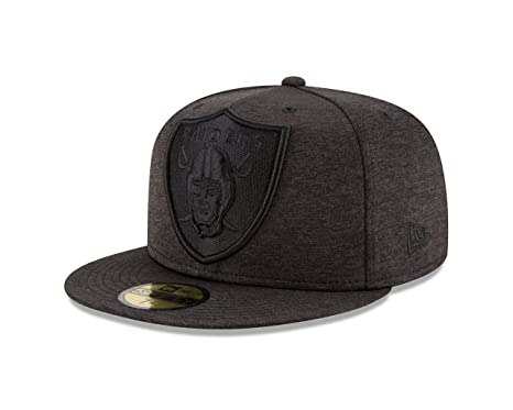 buy online 604b8 84b55 New Era Oakland Raiders MEGA TONE Fitted 59Fifty NFL Hat - Black (7)