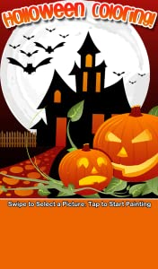 Halloween Coloring Book from Beansprites LLC