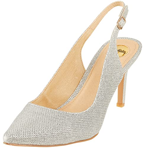 sports shoes 50% price the latest Buffalo Damen H733c-117 P1855c Glitter Slingback Pumps